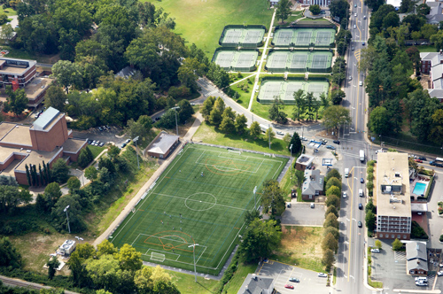snyder tennis center and carr's hill field at uva