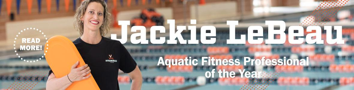 our jackie lebeau is the aquatic fitness professional of the year
