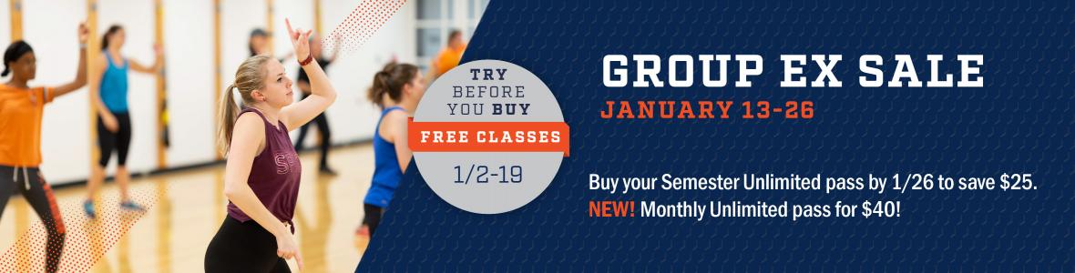 group exercise classes uva free week and discounted