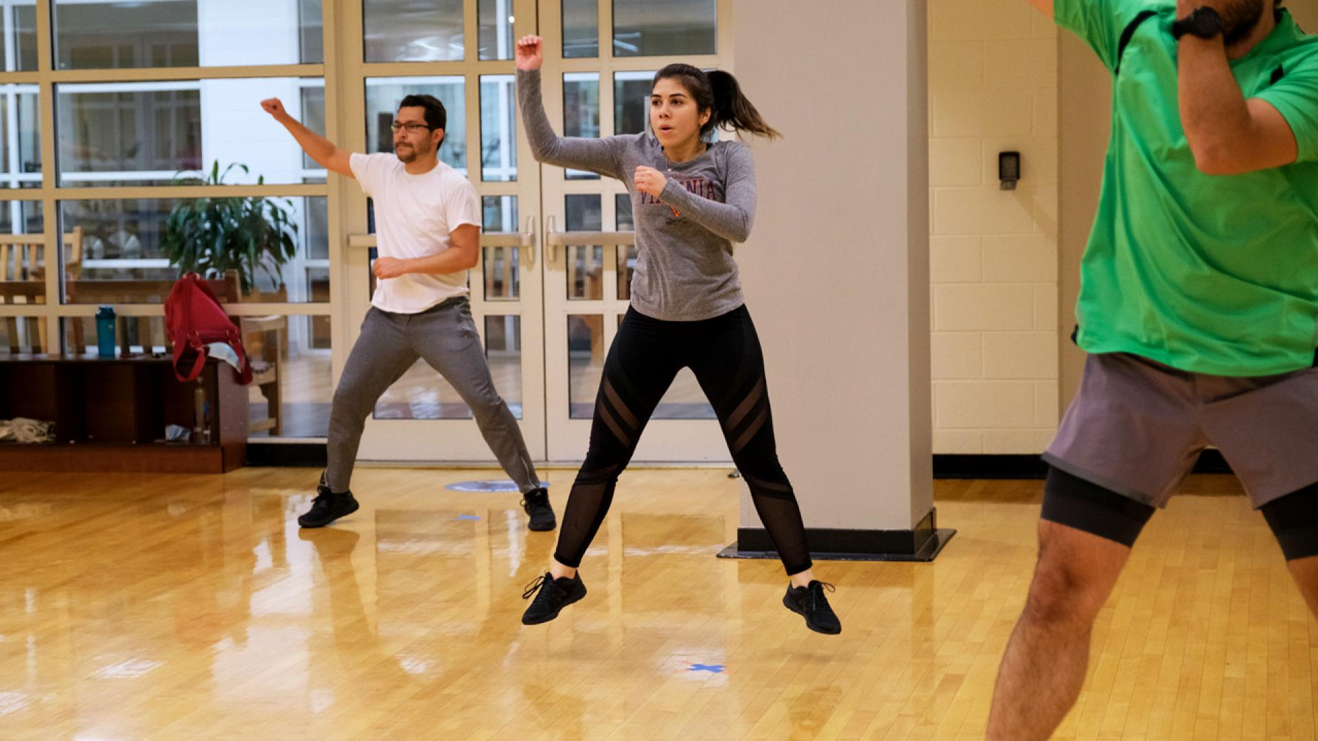 group fitness and exercise classes in charlottesville at uva