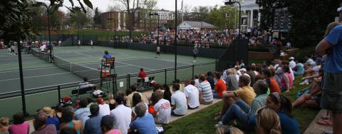 Snyder Tennis Center during match